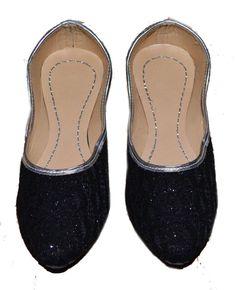 643a6674a5a2 US SIZE 7 WOMENS JAIPURI MOJADI SHOES JUTTI SHINY BLACK MODERN PUNJABI LADY   fashion  clothing  shoes  accessories  womensshoes  sandals (ebay link)