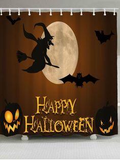 Halloween Witch Bat Jack O Lantern Shower Curtain Holiday Shower Curtains, Cheap Shower Curtains, Bathroom Curtains, Hookless Shower Curtain, Open Showers, Animal Letters, Curtain Material, Happy Halloween, Halloween Stuff