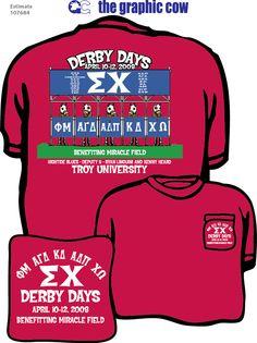 Sigma Chi Derby Days by James #SigmaChi #DerbyDays Shirt by James
