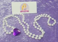 PARTY PACK Rapunzel Heart Pearl Necklace by TeatotsPartyPlanning