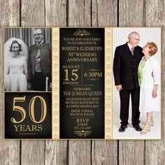 Invitación aniversario 50  aniversario de por LittleMsShutterbug