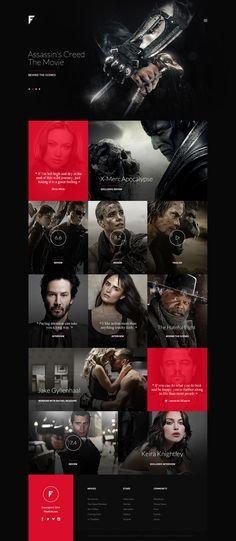 FinalCut - Online Movie Magazine on Web Design Served
