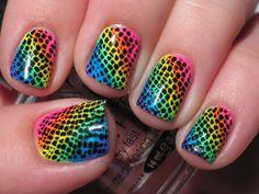 I like rainbows and I like polka dots