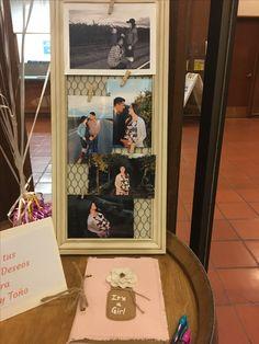 Mesa de recibimiento (fotos de papas y hermanito)