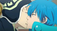 The kiss from the Dramatical murder anime cracked me up XD i´ll stick to the game..