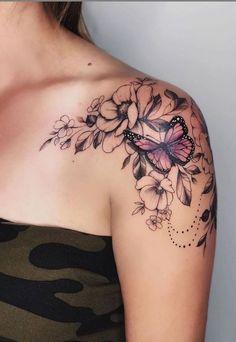 88 alluring sexy tattoo designs & tattoo placement ideas for Waman- # desi …. - tattoo feminina - 88 alluring sexy tattoo designs & tattoo placement ideas for Waman- # desi . Unique Tattoo Designs, Butterfly Tattoo Designs, Tattoo Designs For Women, Unique Tattoos, Butterfly On Flower Tattoo, Butterfly Tattoos For Women, Butterfly Sleeve Tattoo, Flower Design Tattoos, Flower Tattoo Sleeves