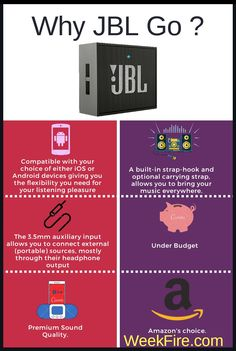 JBL go infographics. Amazon product infographics. Best budget Wireless or  Bluetooth speaker with infographics b3aef967a514