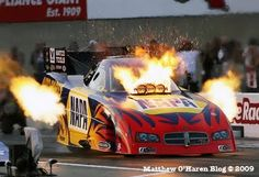 Ron Capps ,Pops a Blower