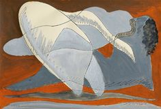 Man Ray, Leda, 1941  Gouache and ink on paper