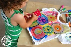 Color Spray-Science Through Art for Kids - Kids Activities Blog  - tie-dye t-shirts with sharpie