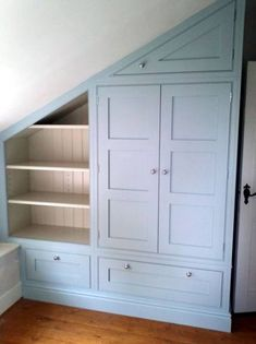 Jaw Dropping Cool Tips: Attic Storage Doors Garage Attic Apartment. Attic Man Cave Offices Attic Stairwell Newel Posts - All About Gardens Loft Storage, House, Small Spaces, Home, Closet Bedroom, Bedroom Loft, Loft Room, Stair Storage, Trendy Bedroom
