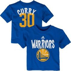 eb510ecc417 Stephen Curry Golden State Warriors adidas Infant Name   Number T-Shirt –  Royal Blue