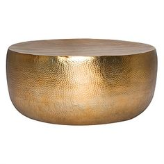 Hammered Drum Coffee Table 95cm