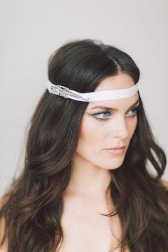 Fortuna Headpiece.  Wedding Headband, Bridal Headband, Wedding Accessories, Bridal Headpiece by OffwhiteStudio on Etsy
