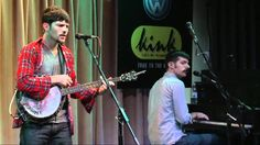 Scott with bubblegum. And a kick drum. The Avett Brothers - Kick Drum Heart (Live in the Bing Lounge)