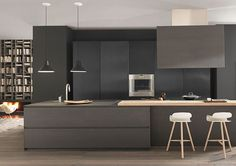 Modern and Contemporary Kitchen Cabinets Design Ideas 53