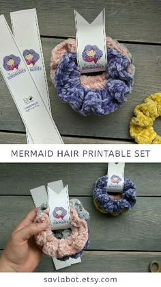 Diy Hair Scrunchies, How To Make Scrunchies, Crochet Projects, Sewing Projects, Crochet Hair Accessories, Diy Accessories, Wraps, Diy Hairstyles, Diy Gifts
