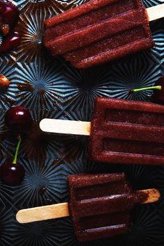 Sour cherry popsicles // The Tart Tart