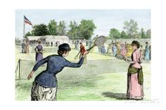 Ladies Lawn Tennis Tournament at the Staten Island Cricket Club, NY, 1870s Photographic Print at AllPosters.com