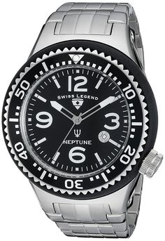 Swiss Legend Men's 21819P-11 Neptune Force Stainless Steel Watch * Check this awesome watch by going to the link at the image.