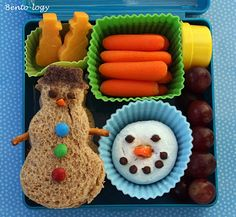 Bento-logy: Snowmen Christmas packed lunch