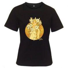 """Alphonse Mucha - """"The Flowers"""" Womens Art Nouveau T-shirt"""
