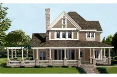 This 2213 square feet victorian style 4 bedrooms, 3 bath (not really. 2 full, 2 half) with 2 garage stalls. It also combines elements from the farm, country styles.