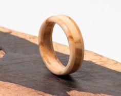 Wood Ring Handmade Olive Wood Jewelry by Ebeniste on Etsy