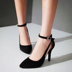 GET $50 NOW | Join Dresslily: Get YOUR $50 NOW!http://m.dresslily.com/ankle-strap-suede-pumps-product1986401.html?seid=bvlChEQj2Uh28OjtUplQ29l3vO
