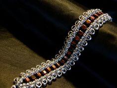 Handmade Ribbons Chain Maille Bracelet, via Etsy.