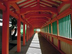 El corredor de color bermellón, Satuario Hinomisaki Jinja