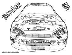 nascar coloring pages | Coloring Pages | Cars | NASCAR | Free Coloring Pages | Car Coloring ...