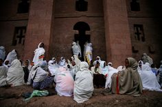 Ethiopia - SATURDAY NIGHT CELEBRATIONS OF THE FASIKA (ORTHODOX EASTER) IN ONE OF THE CHURCHES