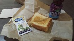 Here's my usual lunch of grilled cheese, ranch and Nestea