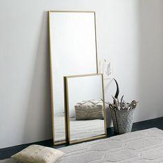Parsons Floor Mirror - Bone Inlay | Floor mirror, Contemporary floor ...