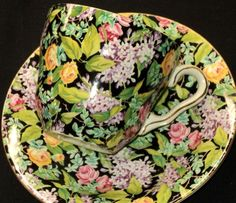 Lord Nelson black, floral chintz pattern
