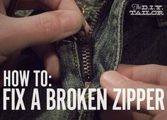 The DIY Tailor: Three Common Zipper Problems and How to Fix Them