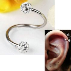 Steel Stainless Piercing Nose Ring Helix Cartilage Earring