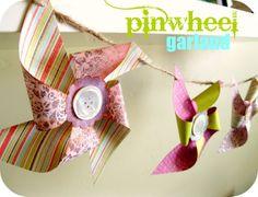Peppermint Plum: {PINWHEEL garland - Tutorial}