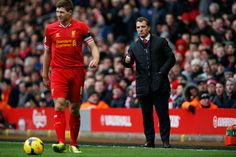 Credit: Tom Jenkins/Tom Jenkins Brendan Rodgers gives a thumbs up –a slight under-reaction considering Liverpool's absolute dominance in th...