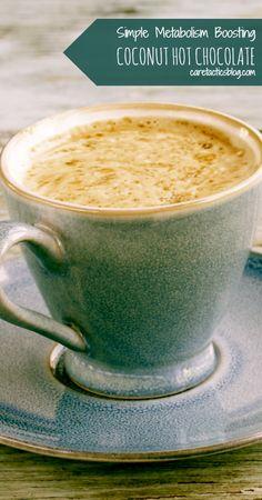 Simple metabolism boosting coconut hot chocolate | caretacticsblog.com
