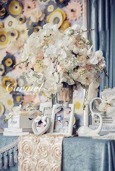 卡梅尔格调婚礼-天仁海鲜酒楼 灰色搭配裸色婚礼-真实婚礼案例-卡梅尔格调婚礼作品-喜结网