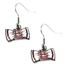 St Louis Cardinals Team Logo Bow Tie Earring Charm Gift Set