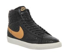 Black Rose Gold Quilted Pack Nike Blazer Mid | OFFICE.co.uk.