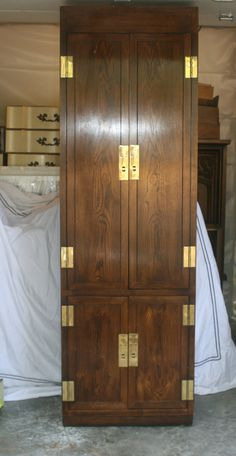 2 Available Campaign Dressers or Armoires Paint to by ExeterFields, $895.00