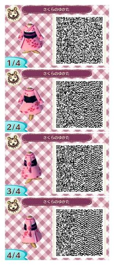 Animal Crossing: New Leaf - purple dress QR-code Qr Code Animal Crossing, Animal Crossing Qr Codes Clothes, Motif Acnl, Ac New Leaf, Pattern Code, Happy Home Designer, Do It Yourself Furniture, Animal Games, Look Fashion