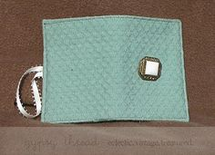 Soft green vintage Tea Wallet by Gypsy Thread