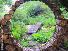 Love the idea. Would be interesting to create as a window as well. Log Moon Gate