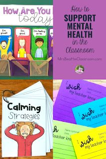 Mental health in the classroom is a growing concern. Support your students' mental health needs with the tips in this blog post and grab a FREE check-in station and printable.