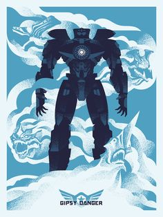 "Pacific Rim - Ryan Brinkerhoff - ''Cancel the Apocalypse'' ---- Gallery 1988 presents: ""Guillermo Del Toro: In Service Of Monsters"" Pacific Rim Movie, Tron Legacy, Video Game Anime, Childhood Movies, Alternative Movie Posters, Cult Movies, Room Posters, Geek Art, American Horror"